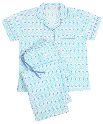 Ladies traditional button-front short-sleeve sleepwear
