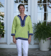 Seabury Lime/Navy Tunic