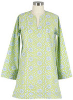 Lime Floral Tunic