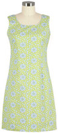 Lime Floral Piper Dress