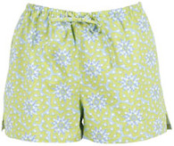 Lime Floral boxer shorts