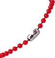 2130-4006 - Plastic Chain Bead Size 4 mm Red 500 Per Pack