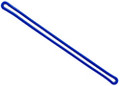 "2410-2002 - Luggage Loop Plastic 6""  Blue 100 Per Pack"