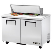 "True TSSU-48-10 48"" Two Door Sandwich / Salad Prep Refrigerator - Ten Pans"