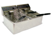 Fryer, Electric, 110v, Counter top, 4 baskets
