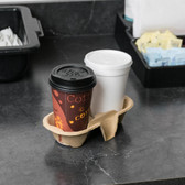 Biodegradable Pulp Fiber 2 Cup Carrier - 300 / Case