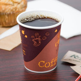 8 oz. Poly Paper Hot Cup with Coffee Design - 1000 / Case