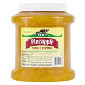Pineapple Ice Cream Topping - 6 - 1/2 Gallon Containers / Case