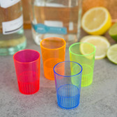 1.5 oz. Mixed Neon Hard Plastic Shooter Glass 300 / Case