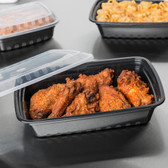 Rectangular Microwavable Heavyweight Container w/ Lid - 150/Case