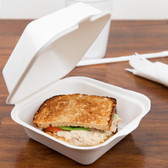 Biodegradable, Compostable Take-Out Container - 500 / Case