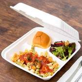 Biodegradable, Compostable 3 Compartment Takeout Container 200/Case