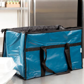 Blue Insulated Vinyl Food Pan Carrier