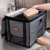 Gray Insulated Nylon Top Load Full Size Food Pan Carrier