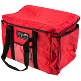 "Rubbermaid 9F40 ProServe 15"" x 12"" x 12"" Red Insulated Nylon Sandwich Delivery Bag"