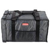 "Rubbermaid 9F12 ProServe 27"" x 18 1/4"" x 16"" Gray Insulated Nylon End Load Full Size Food Pan Carrier"