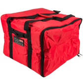 Red Insulated Medium Nylon Pizza / Catering / Sandwich Delivery Bag
