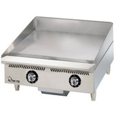 "Star 824TCHSA Ultra-Max 24"" Countertop Gas Griddle with Snap-Action Thermostatic Controls and Chrome Plate - 60,000 BTU"
