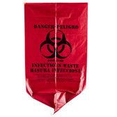 Red Isolation Infectious Waste Bag / Biohazard Bag 1000/CASE