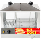 Hot Dog Steamer 100pcs & Bun warmer 48pcs - 120V, 1300W