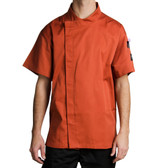 Spice Orange Customizable Chef Jacket w/ Short Sleeves