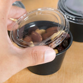 Choice PET Plastic Lid for 3.25 to 5.5 oz. Souffle Cup / Portion Cup - 2500/Case