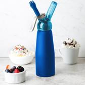 Whip-It SV PRO-06R Blue .5 Liter Aluminum Rubber Coated Cream Whipper