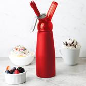 Whip-It SV PRO-03R Red .5 Liter Aluminum Rubber Coated Cream Whipper