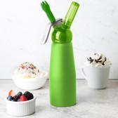 Whip-It SV PRO-09R Green .5 Liter Aluminum Rubber Coated Cream Whipper