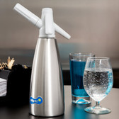 Whip-It SSSV-01 Soda Siphon - Silver 1 Liter