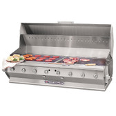 "Bakers Pride CBBQ-60S-BI Natural Gas 60"" Ultimate Built-In Gas Outdoor Charbroiler with Grill Cover"