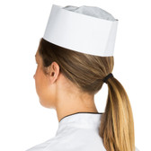 Chef Revival DRC100 Adjustable Paper Overseas Cap - 100/Pack