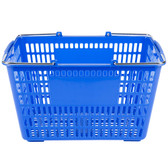 "Blue 18 3/4"" x 11 1/2"" Plastic Grocery Market Shopping Basket"