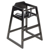 Lancaster Table & Seating Unassembled Black Stacking Restaurant Wood High Chair