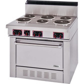 Garland S686 Sentry Series 6 Open Burner Electric Restaurant Range with Standard Oven - 208V, 3 Phase, 15 kW