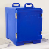 "CaterGator 16 3/4"" x 24"" x 25"" Blue Front Loading Insulated Food Pan Carrier"