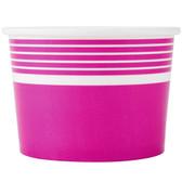 Choice 12 oz. Pink Paper Frozen Yogurt Cup - 1000/Case