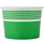 Choice 12 oz. Green Paper Frozen Yogurt Cup - 1000/Case