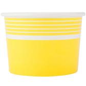 Choice 12 oz. Yellow Paper Frozen Yogurt Cup - 1000/Case