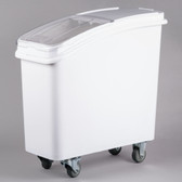 Baker's Mark 21 Gallon White Mobile Ingredient Storage Bin with Lid