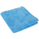 """12"""" x 12"""" Blue Microfiber Cleaning Cloth - 12/Pack"""
