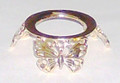 Egg Stand - Bright Gold Finish #650 - Butterflies