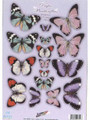 Pre-cut Metallic Butterfly Embellishments - Pastels