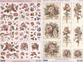 3-D Pre-Cut Antique Roses