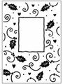 Christmas Holly Frame Embossing Folder
