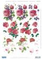 3-D Pre-cut Red Roses