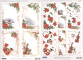 3-D Pre-Cut Christmas Poinsettia Frames