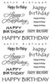 Sticker Sheet - Happy Birthday Captions
