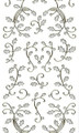 Outline Holly Flourish - Silver Glitter/Gold Outline