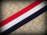 Patriotic Stripes 1 1/2 Inch Collar